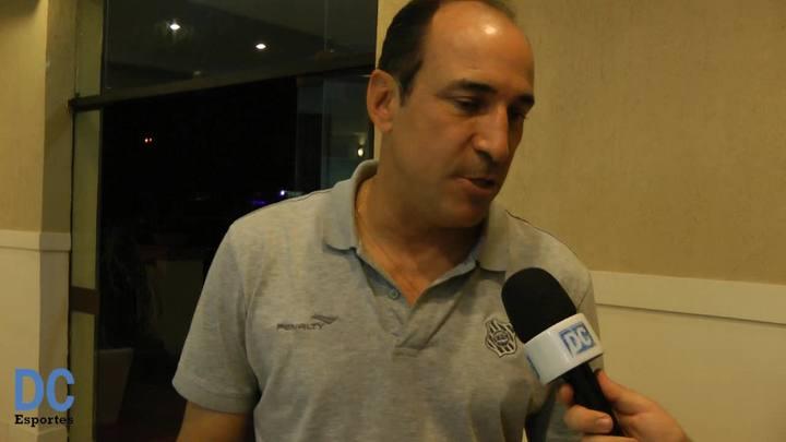 Entrevista com o técnico Vinícius Eutrópio após jogo do acesso