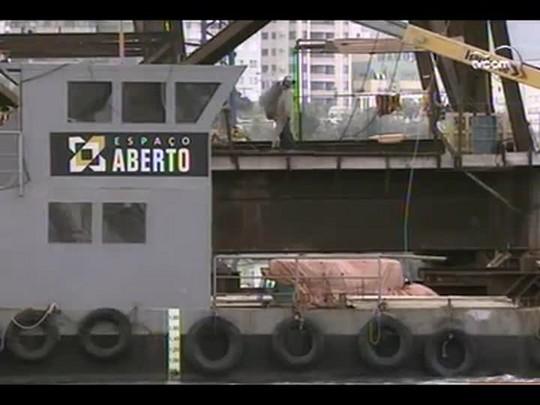 TVCOM 20 Horas - Deinfra notifica consórcio pela demora na reforma da Ponte Hercílio Luz - Bloco 1 - 04/07/14
