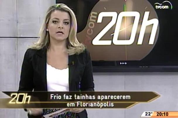 TVCOM 20 Horas - Frio faz tainha aparecerem em Florianópolis - 08.05.15