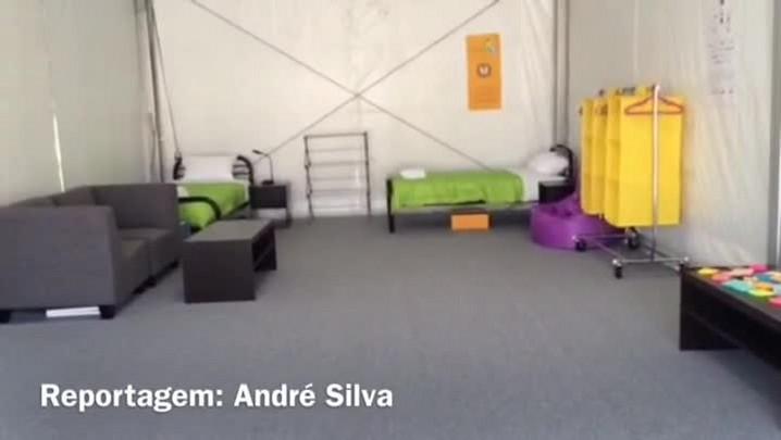 André Silva mostra o quarto dos atletas no Pan