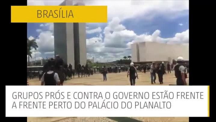 Brasília: tarde de conflito e tensão nas manifestações em meio à crise