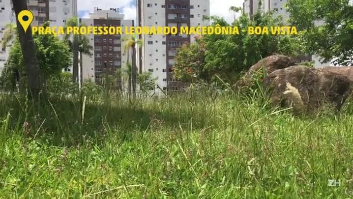 Veja como está a situação da Praça Professor Leonardo Macedônia