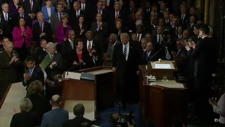 Trump faz 1º discurso no Congresso