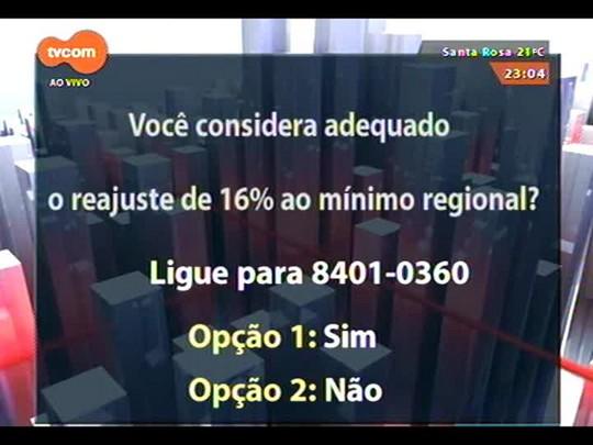 Conversas Cruzadas - O projeto de reajuste de 16% no salário mínimo regional - Bloco 3 - 11/11/2014