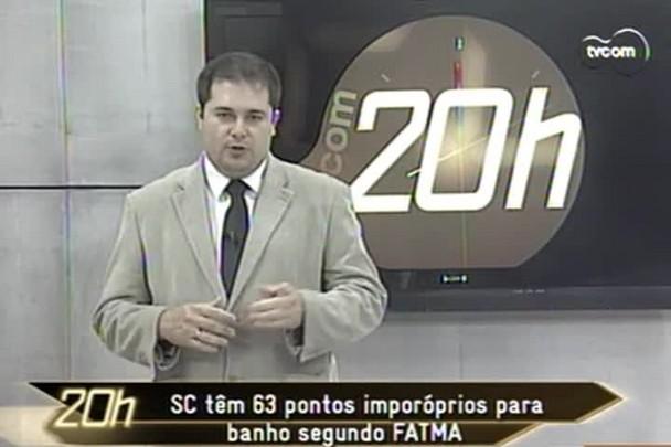 TVCOM 20h - SC tem 63 pontos impróprios para banho segundo FATMA - 10.1.15