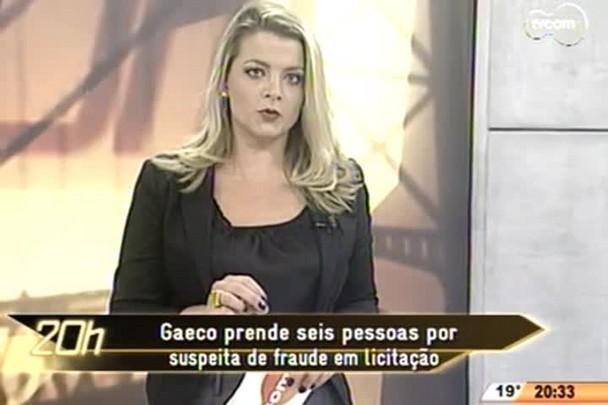 TVCOM 20 Horas - Gaeco prende seis pessoas por suspeita de fraude em licitação - 12.05.15