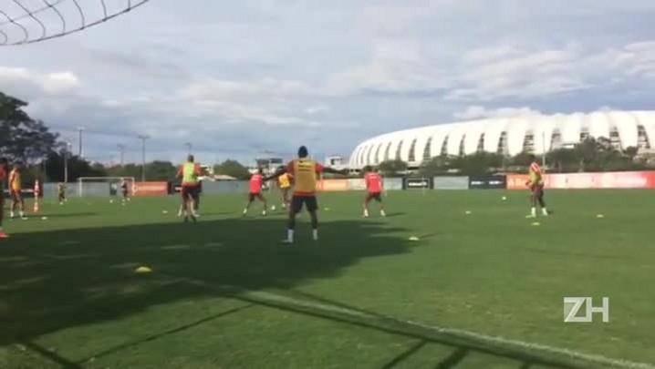 Tarde de trabalho para o Inter no CT Parque Gigante