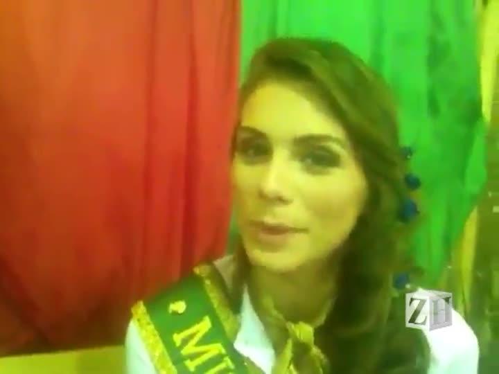 Miss Brasil visita Acampamento Farroupilha