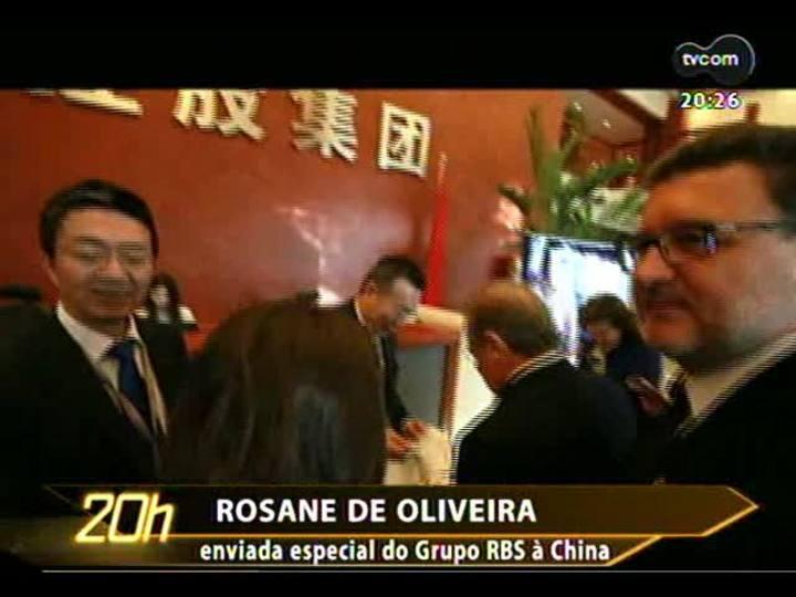 TVCOM 20 Horas - Atualização sobre a comitiva do RS na China - Bloco 2 - 06/12/2013