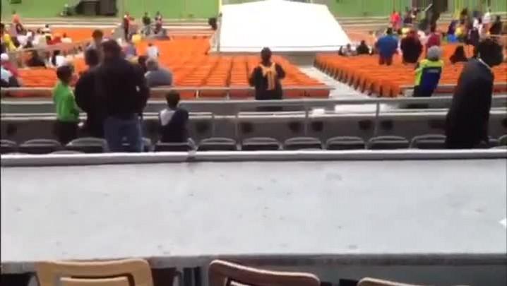 Veja a posição da Rádio Gaúcha no Estádio Soccer City. 05/03/2014