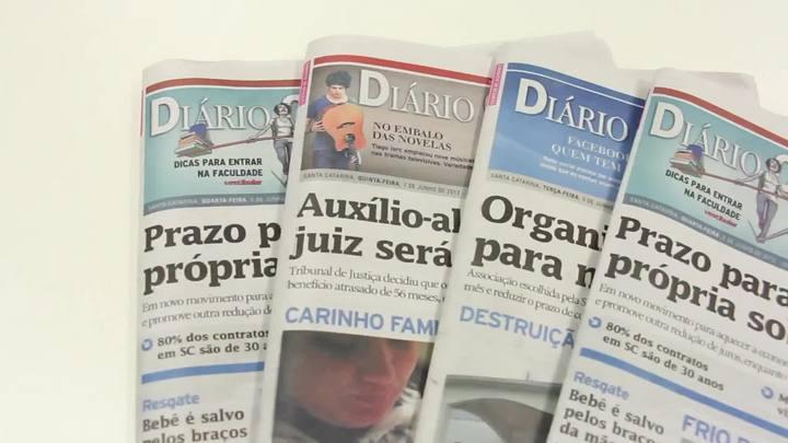 Chamadas Diário Catarinense 25 de junho de 2014