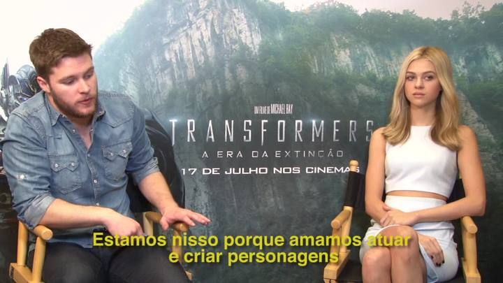 Entrevista com os atores de Transformers: a era da extinção
