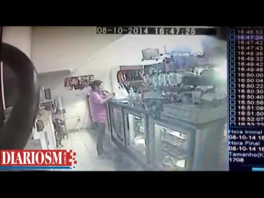Bandidos levam R$1,6 mil de padaria em Santa Maria