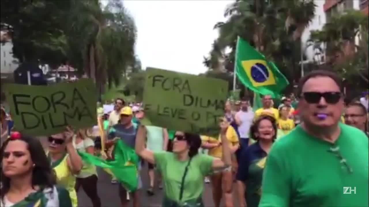 Manifestação em Porto Alegre