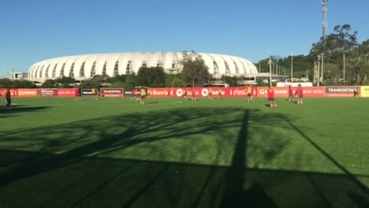 Inter treina para jogo contra o Palmeiras pela Copa do Brasil
