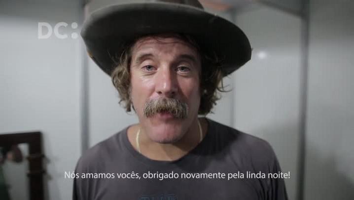 Donavon Frankenreiter manda recado ao público após show em Florianópolis