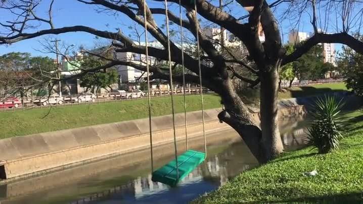 Balanço verde surge na Avenida Ipiranga