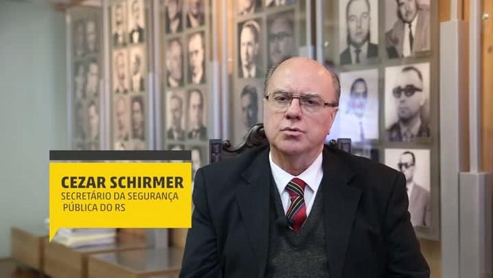 Schirmer e a segurança no RS