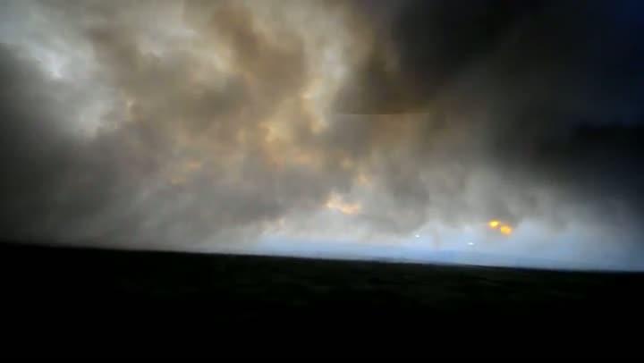 Incêndio atinge Estação Ecológica do Taim