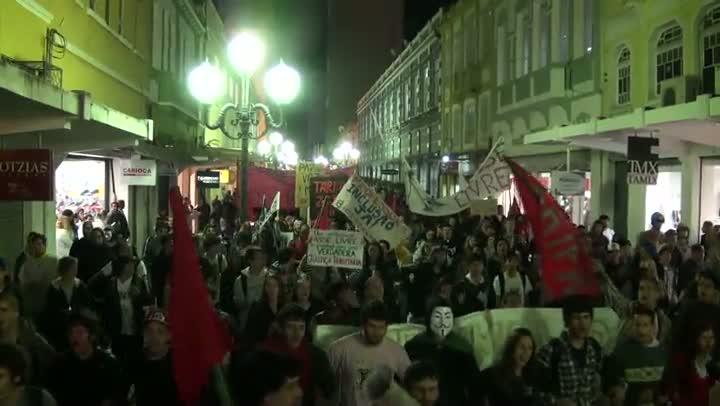 Manifestação em Florianópolis - 27 de junho
