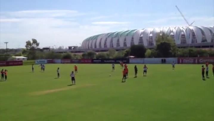 Jorge Henrique será titular contra o Cruzeiro-POA. 31/01/2014