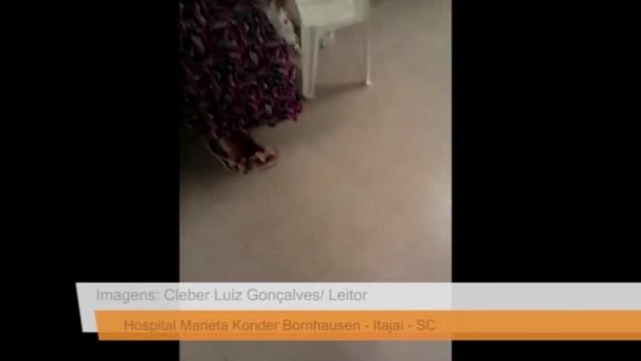 Leitor denuncia situação no hospital Marieta, em Itajaí