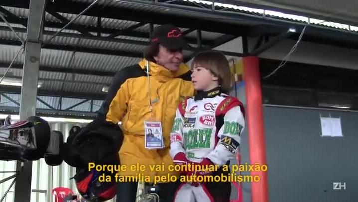 Aos 8 anos, filho de Emerson Fittipaldi disputa campeonatos
