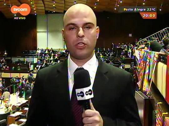 TVCOM 20 Horas - Deputados votam projetos do ajuste fiscal do RS - 22/09/2015