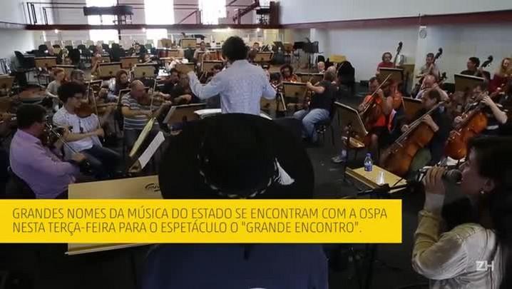Ospa ensaia com Elton Saldanha para o show O Grande Encontro