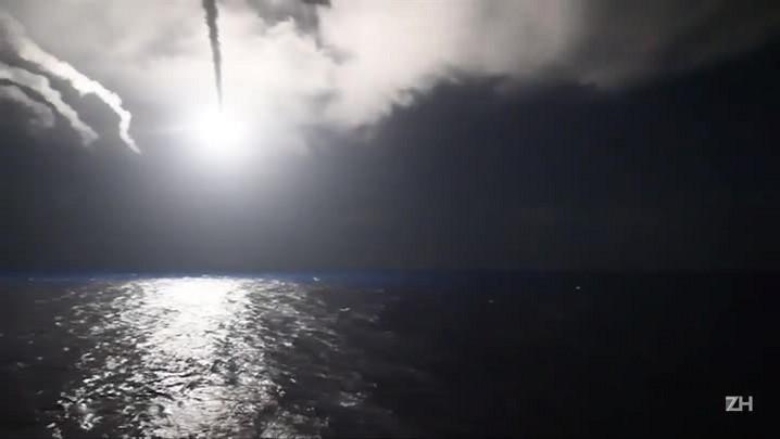 Pentágono divulga imagens de navio em direção a base aérea síria