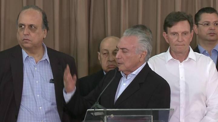 Temer diz que operação no Rio pode ser prorrogada