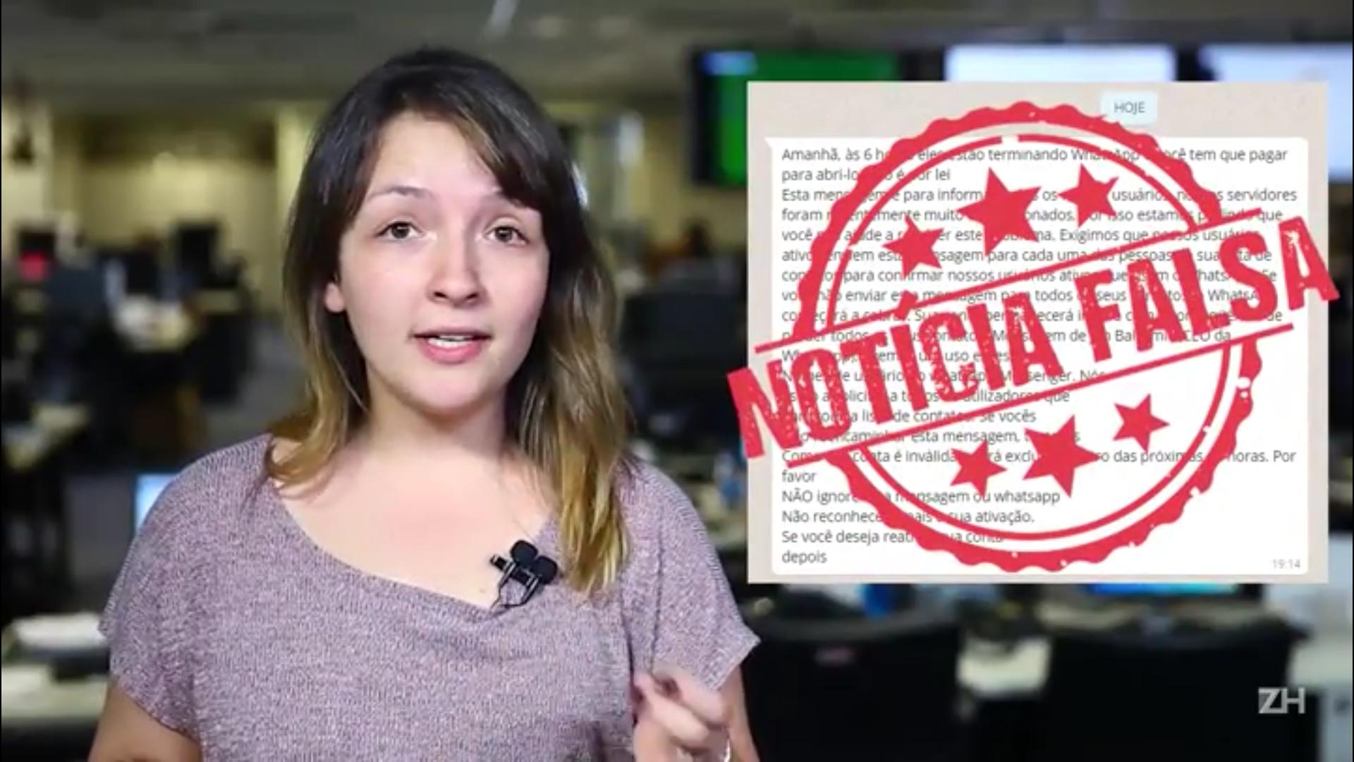 Notícia Falsa na Rede: cobrança do WhatsApp é boato